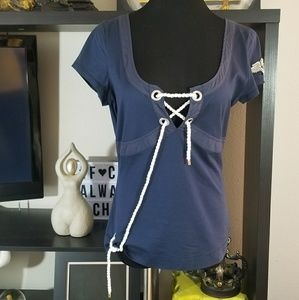 Moschino Jeans Donna Navy Nautical Top 14